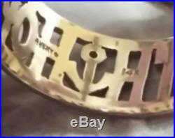 Signed James Avery Solid 14K Gold Faith Hope Love Band Ring Size 13 $660-NEW