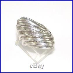 Sterling Silver/925 James Avery Retired Rare Rippled Wave Swirl Ring Sz 6 LQ20-G