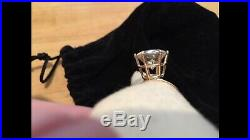 Stunning 14K Custom Moissanite James Avery Wide Hammered Gold Ring