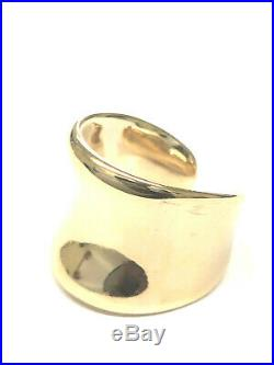 Stunning James Avery 14K Yellow Gold Open Back Ring, Size 8