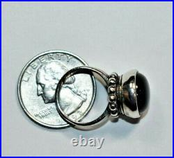 Stunning RETIRED JAMES AVERY Sterling Silver 925 ONYX 3-D Bead Ring Sz- 4.5