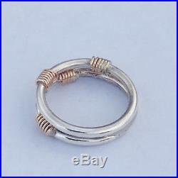 VERY RARE! James Avery Sterling & 14K Kalahari Custom Ring Size 6.0