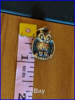 VERY RARE RETIRED James Avery 14k Yellow Gold Owl Charm UNCUT RING