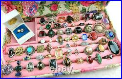 VTG RING JEWELRY LOT Statement Cocktail Signed 14K Solid Gold 925 James Avery