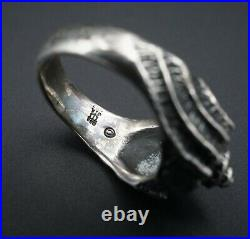 Vintage James Avery Rare Retired Sterling Silver Conch Shell Ring Size 6 RS2798