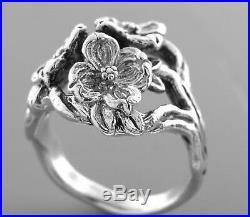 Vintage James Avery Sterling Silver Dogwood Ring Size 7