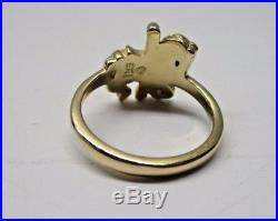 Vintage Retired James Avery Yellow 14k Gold Carousel Horse Ring Size 6.5