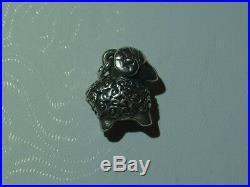Vtg James Avery Sterling Silver Charm 3D Ram Zodiac Uncut Ring